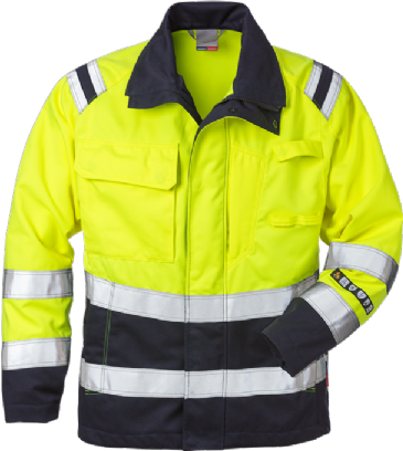 Fristads Flame High Vis Jacket Woman CL 3 4275 ATHS (Hi Vis Yellow/Navy)